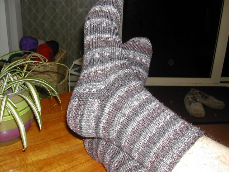 Knitted Socks - My 2nd Pair was for the hubby