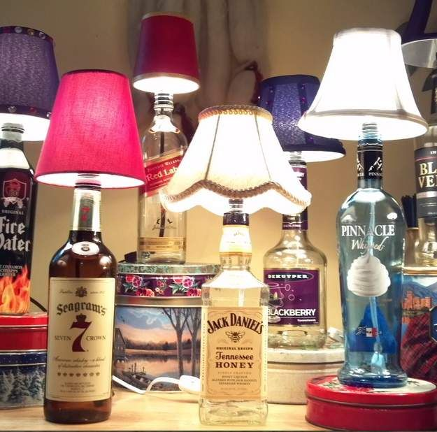159 best Liquor Bottle Lampscrafts images on