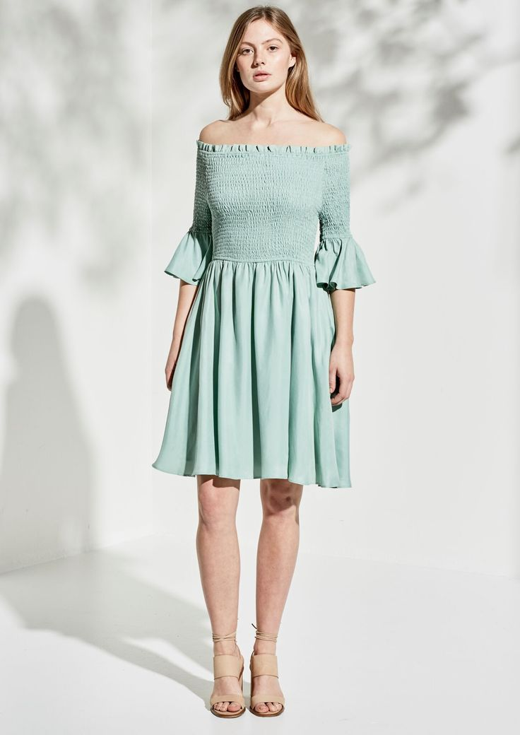 Imonni - Asha Cupro Dress - Sandwash Sage