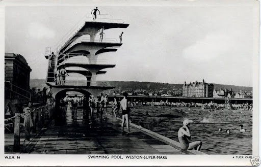 Swimming Pool, Weston Super Mare, England  1930s