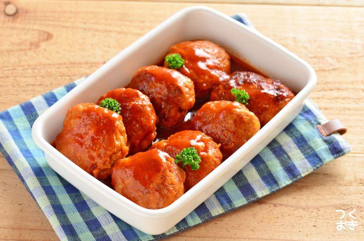 王道!お弁当も冷凍もOK◎煮込みハンバーグ | レシピサイト『つくおき』