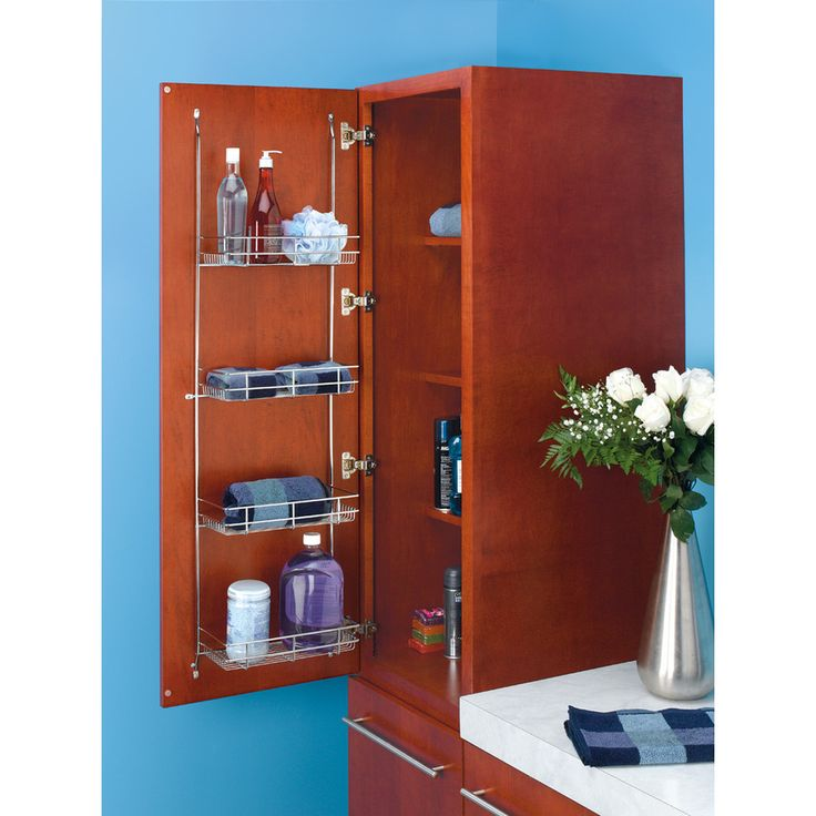Photos Of Create instant storage space for hand towels hair care products and more with rev a shelf us linen and grooming rack They install to any door or tall
