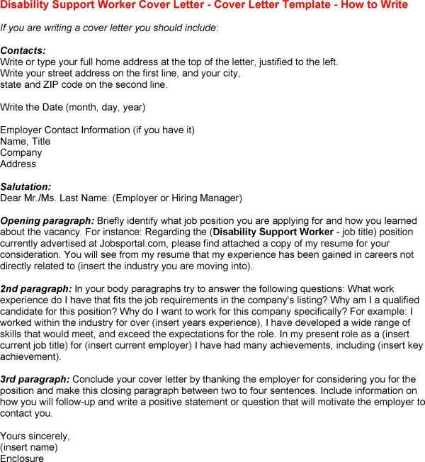 Image result for cover letter for disability support worker ...