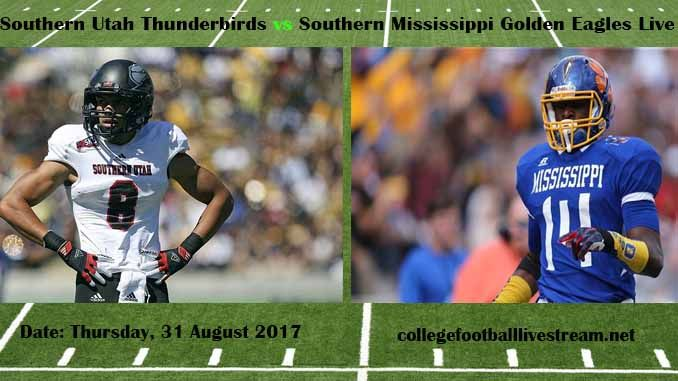 Southern Utah Thunderbirds vs Southern Mississippi Golden Eagles Live Stream Teams: Southern vs Golden Eagles Time: 7:00 PM ET Week-2 Date: Saturday on 9 September 2017 Location: M. M. Roberts Stadium, Hattiesburg, MS TV: ESPN NETWORK Southern Utah Thunderbirds vs Southern Mississippi Golden...