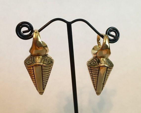 Messing geschnitzt Ohr Gewichte für gedehnte Ohren von wotwjewelry