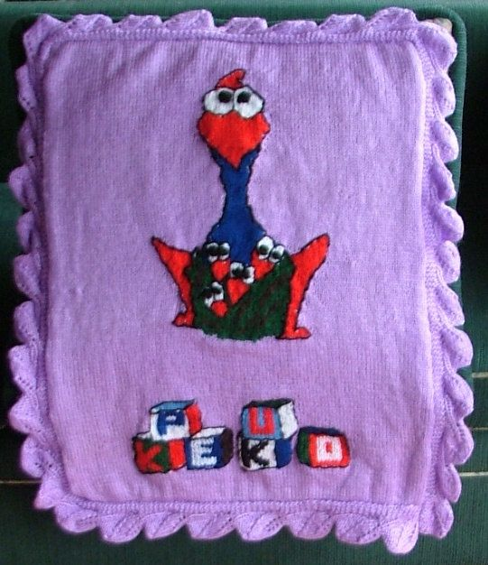 Knitted Pram Blanket. Uses double knitting yarn. by KraftyKiwis