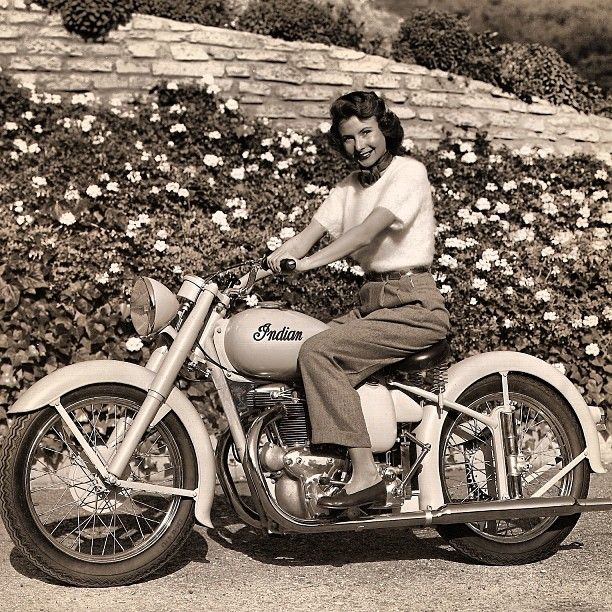 Indian Motorcycles - love these vintage photos so much! And that bike is sweet!