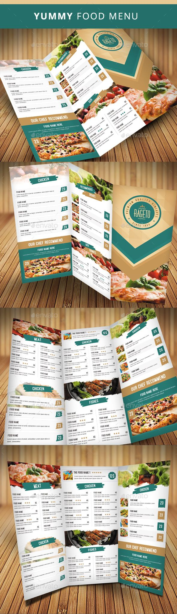 Clean Food Menu Template PSD. Download here: http://graphicriver.net/item/clean-food-menu-03/14768884?ref=ksioks