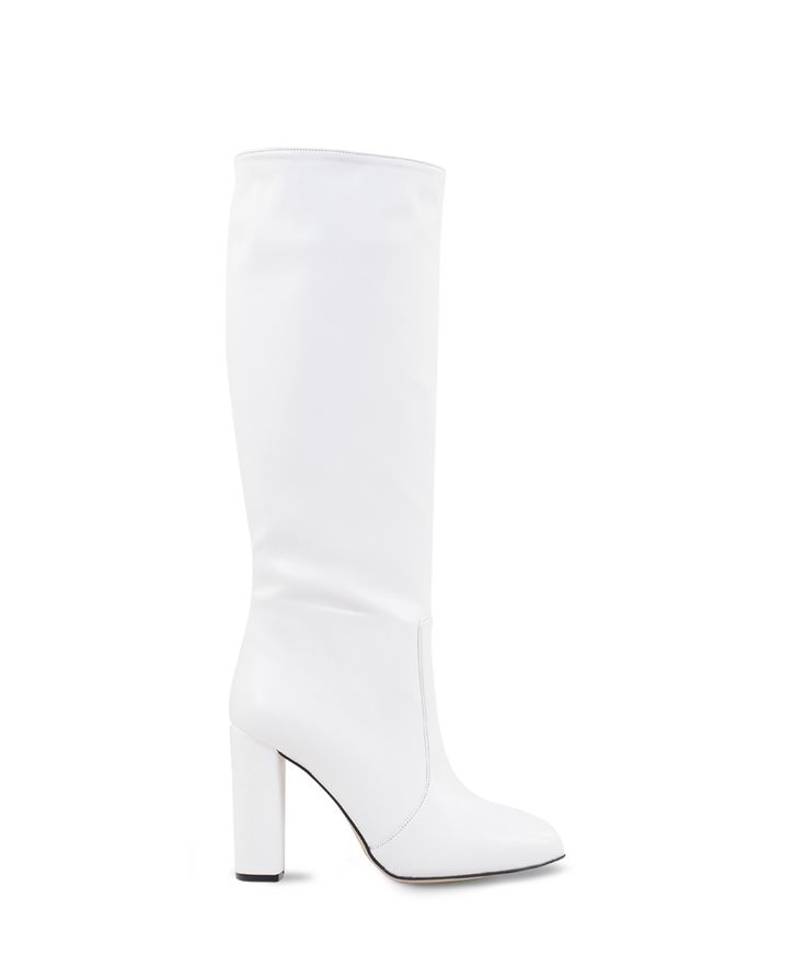 SANTE almond toe heeled boot for talk of the town looks... White