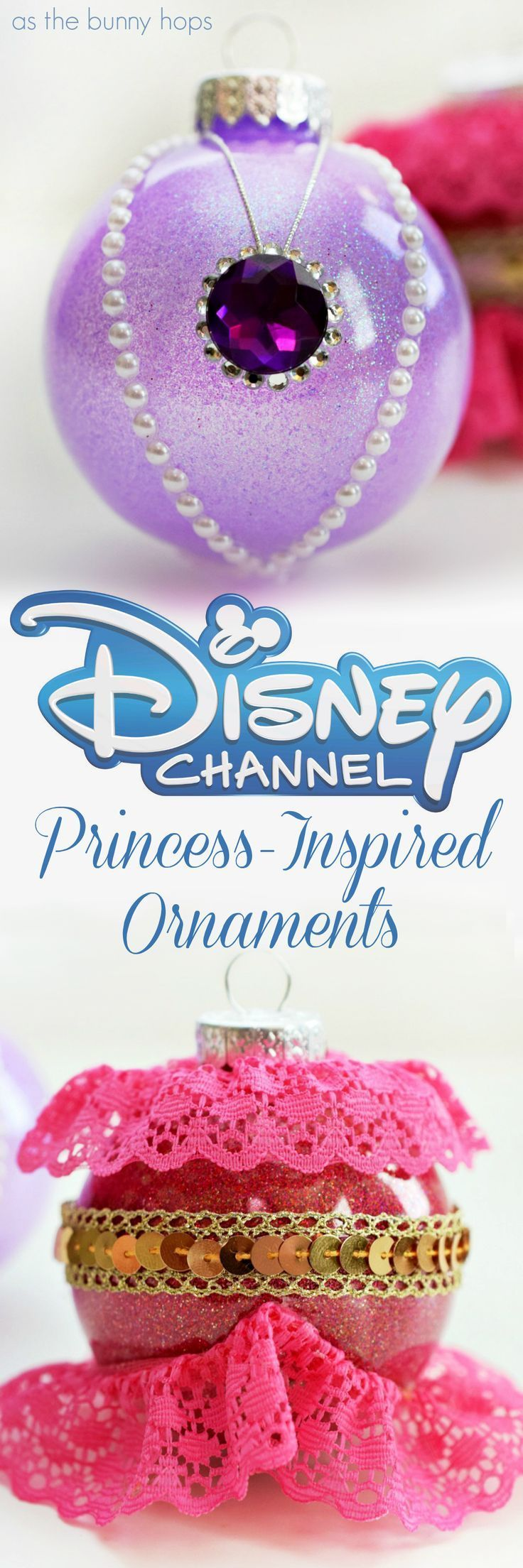 Disney Channel Princessinspired Christmas Ornaments