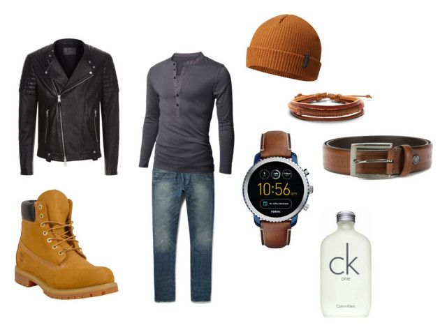 """MALE Decadent Timberland"" by decadentme on Polyvore featuring Timberland, AllSaints, Columbia, Doublju, Calvin Klein, Paul & Shark, Express, FOSSIL, men's fashion and menswear"