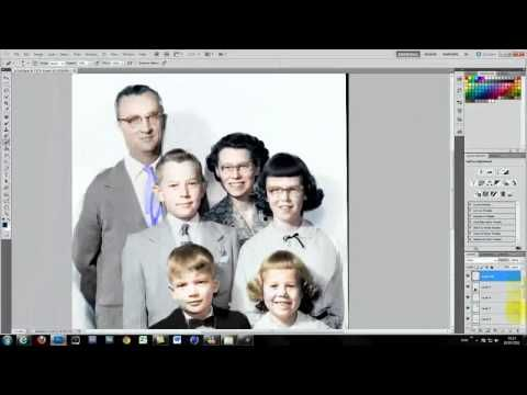 ▶ Photoshop Tutorial: Old photo restoration and colouring