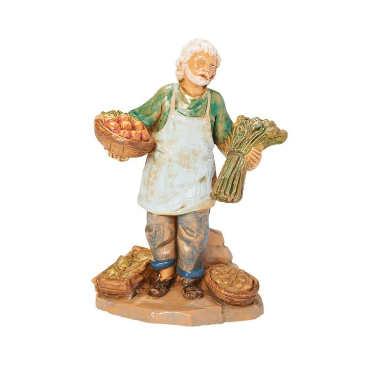 Armoni, the Produce Merchant from the Fontanini Collection of hand-painted figures.