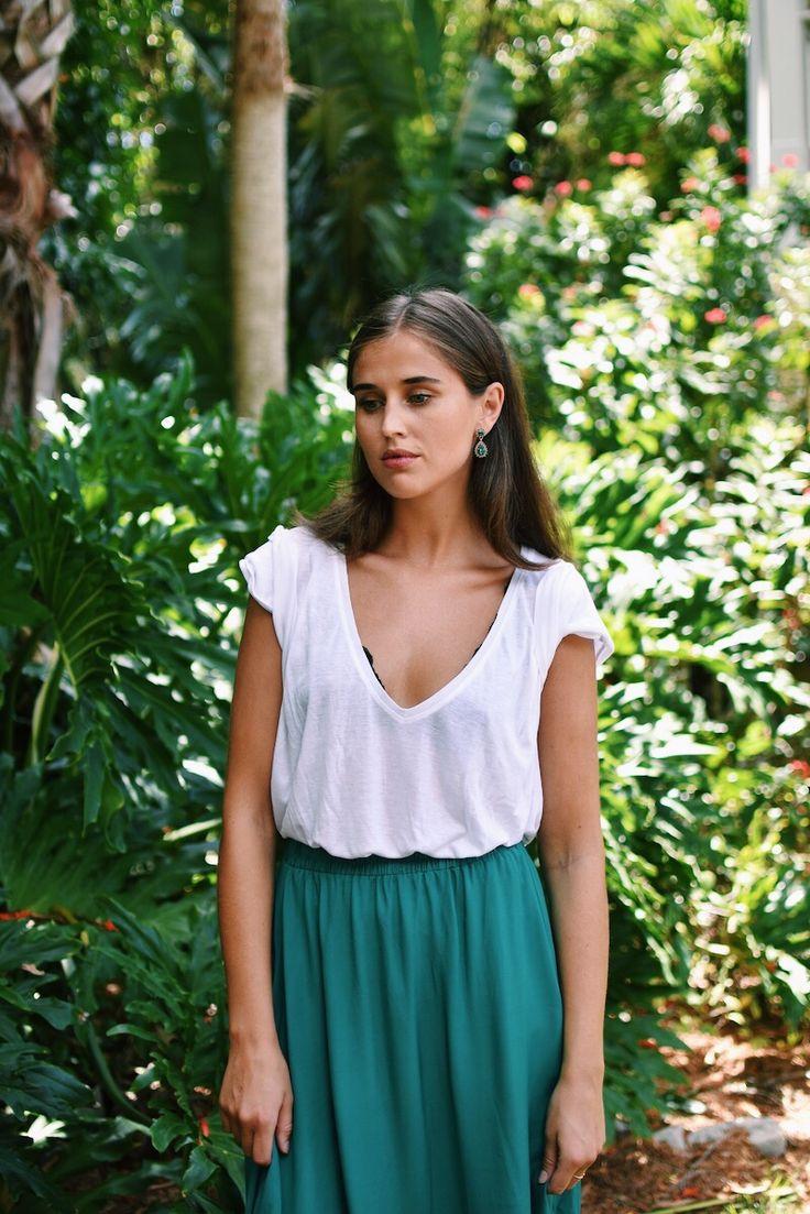 Maxi skirt, outfit, darja barannik, sommerantrekk, maxiskjørt