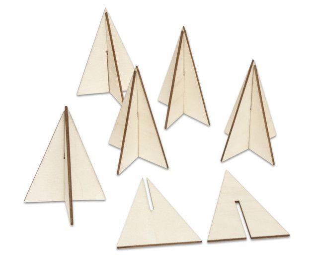 3D-Steckbäume aus Sperrholz (betzold.at) Weihnachtsdeko Laubsägeprojekt