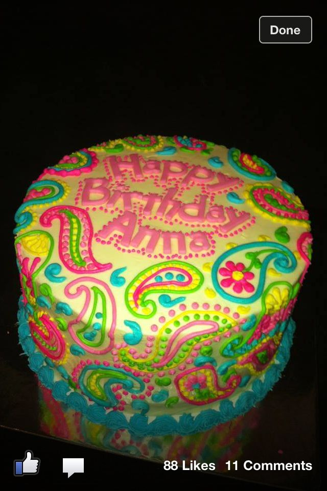 Paisley cake by Kathleen Taylor / Sweet T's Bakery of Oxford, MS