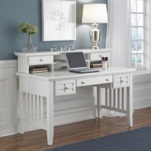 Home Styles Cottage White Arts U0026 Crafts Mission Executive Desk U0026 Hutch   Office Furniture