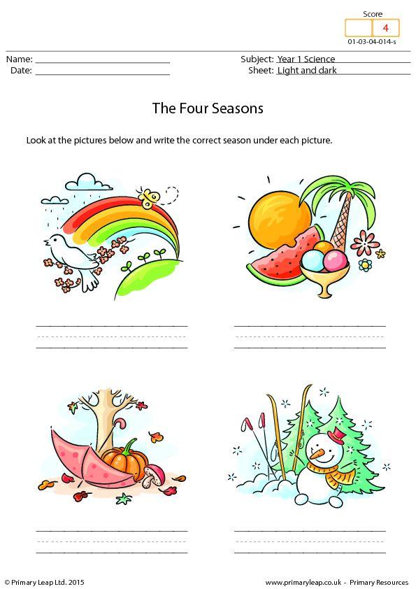 Writing The Four Seasons Seasons Worksheets Weather Worksheets Seasons Kindergarten Is preschool free uk