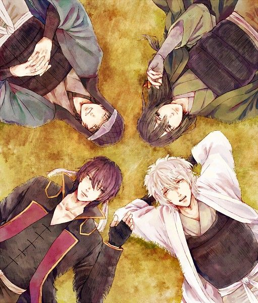 Tags: Anime, Pixiv Id 2985210, Gin Tama, Takasugi Shinsuke, Shiroyasha, Sakata Gintoki, Sakamoto Tatsuma