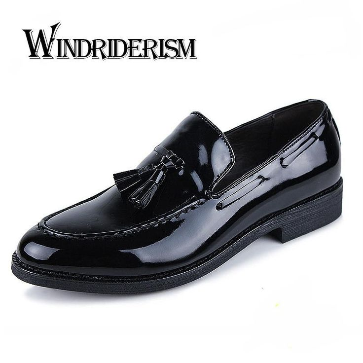 Patent Leather Mens Oxford Shoes for Men Wedding Dress Shoes Fashion Casual Tassel Shoes Brand Flats Los Zapatos Hombre Cuero