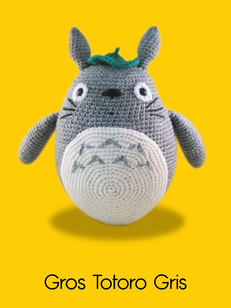 Blog laine tricot crochet   Planète Laine: Modèle crochet gratuit : Amigurumi Grand Totoro Gr...