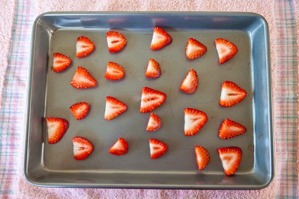 Strawberries are delicious, vitamin- and fiber-rich fruits, but their shelf lives are relatively short. Most strawberries only last around five days when refrigerated before becoming moldy. Keep your supply of strawberries good for much longer by drying out these tasty red fruits for use in snack mixes, milkshakes and your morning cereal. Dried...