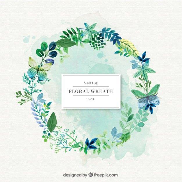 guirnalda verde de la naturaleza con las hojas | Descargar Vectores gratis