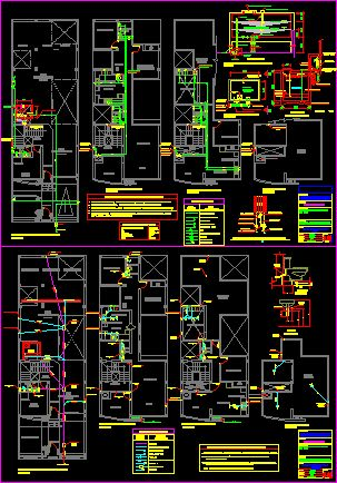 House - plumbing (dwgAutocad drawing )