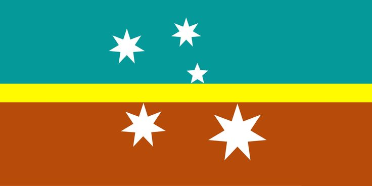 New Australian Flag Design UluruSky Golden Horizon SC/CS5L Turq Ochre 2018  1:2