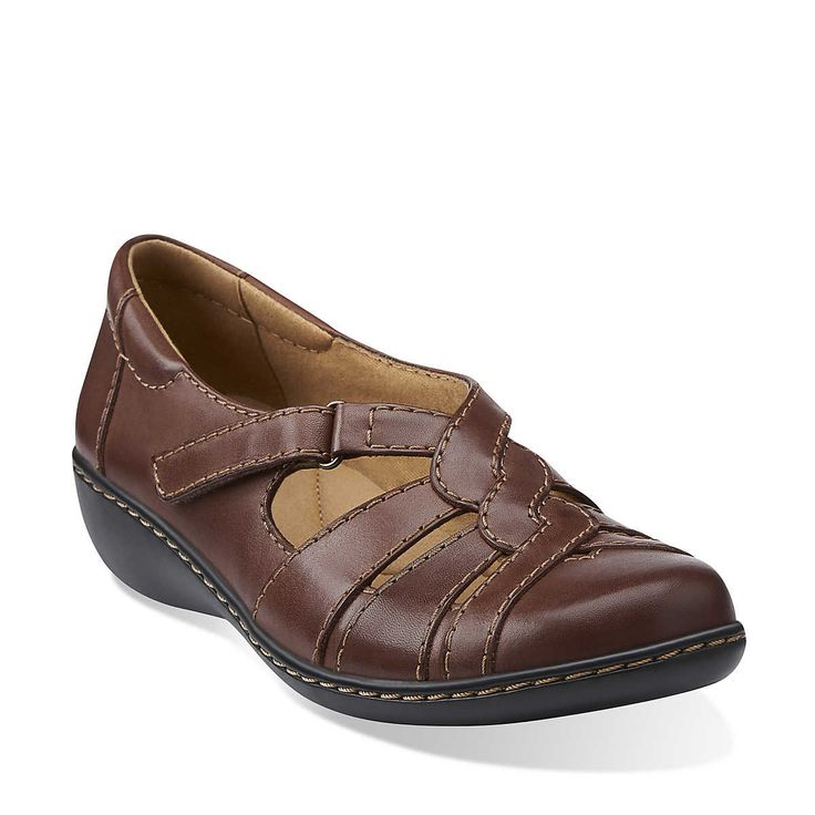 Ashland Norway in Brown Leather - Womens Shoes from Clarks
