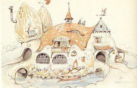 efteling tekening anton pieck kabouter huis