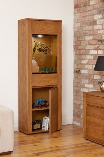 Olten - Tall Display Cabinet #oak #wood #furniture #home #interior #decor #interiorinspiration #livingroom #diningroom #kitchen #lounge #house #cabinet