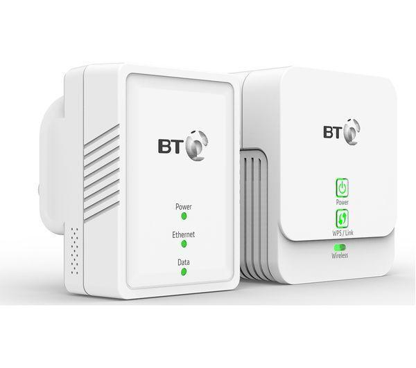 BT Essentials Wireless Powerline 500 Kit - Wifi Adapter Twin Pack - New - UK