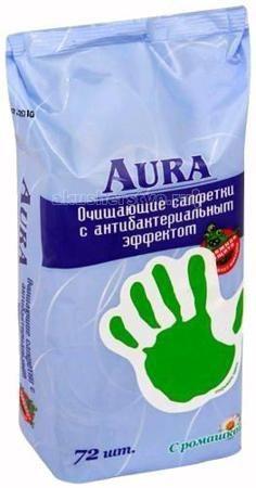 Aura Влажные салфетки антибактериальные 72 шт.  — 110р. --------  Влажные салфетки антибактериальные Aura 72 шт.  Влажные салфетки содержат мягкий очищающий лосьон, который убивает большинство бактерий и микробов.   Не содержит спирта.  Находятся в удобной упаковке, которая легко поместится даже в небольшой сумочке.