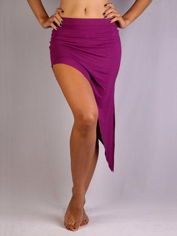 Diagonal Overskirt in Rayon Lycra  Dance wear Yoga by PoisonBabe, £23.00