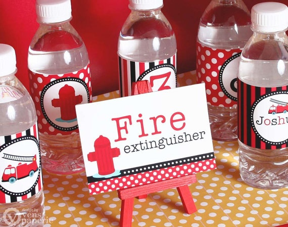 Dalmatian Firefighter Birthday Party Package by venspaperie, $29.00--cute sign!