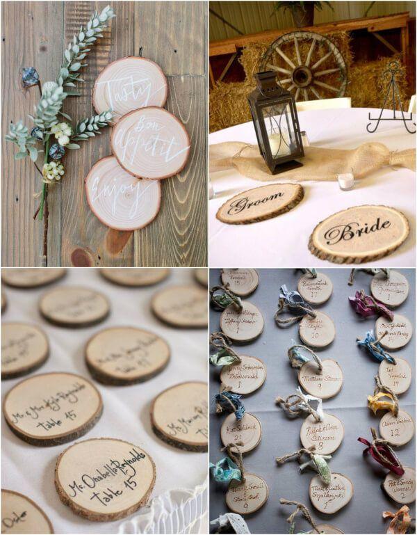карточки с именами гостей на свадьбу