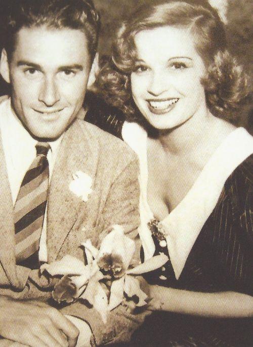 Errol Flynn et Lili Damita, tout juste mari et femme