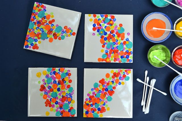 check those sales for paint colors--Attic Lace: How To Make Colorful Coasters!