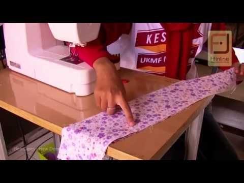 Teknik Memasang Ritsleting Jepang - YouTube