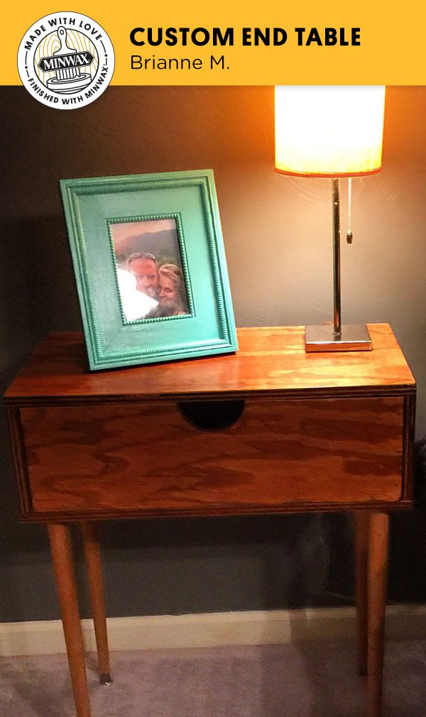 Brianne M. loves the character these nightstands add to her room, and loves that her father made them for her from scratch. She added her favorite Minwax® stain color and clear finish to give it a personal touch.