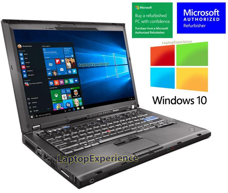 IBM LENOVO LAPTOP THINKPAD T400 WINDOWS 10 WIN DVDRW WiFi CORE 2 DUO 2.26GHz PC
