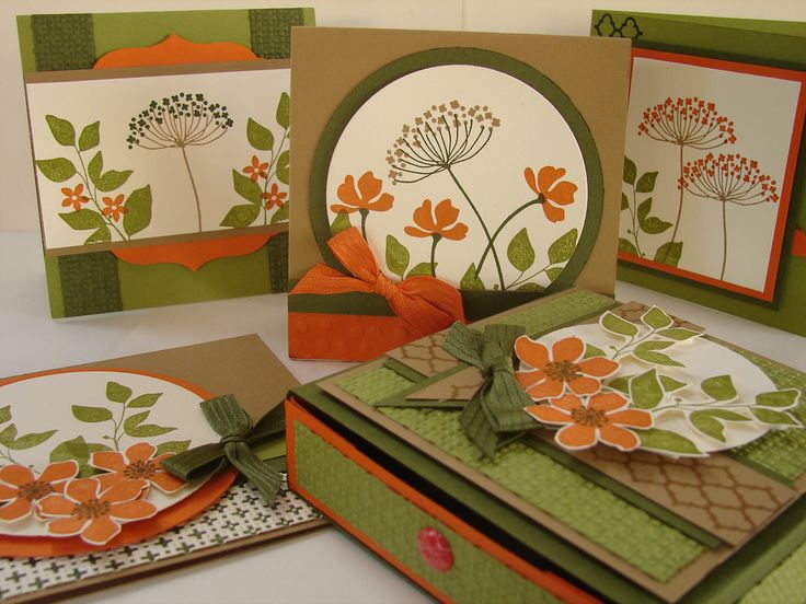Boxed set of cards using Stampin Up Summer Silhouettes & Just Add Ink colour challenge 254