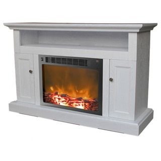 Real Flame Calie White 67 in. L x 18 in. D x 30.5 in. H Fireplace Entertainment Center | Overstock.com Shopping - The Best Deals on Indoor Fireplaces