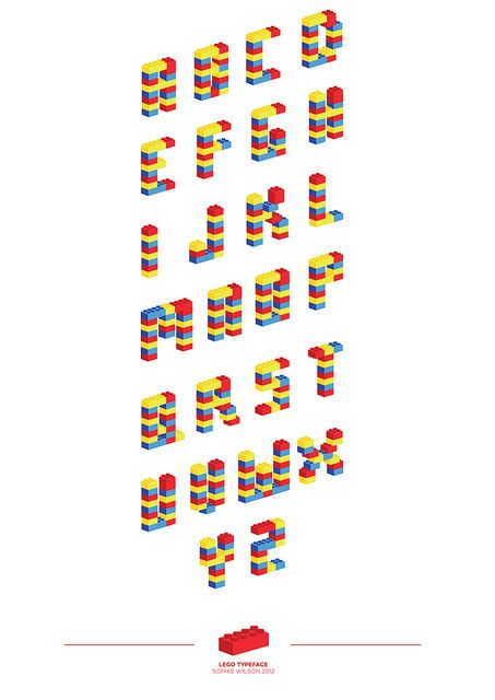 5/365: 'LEGO TYPEFACE' by .sophie.wilson. on Flickr.