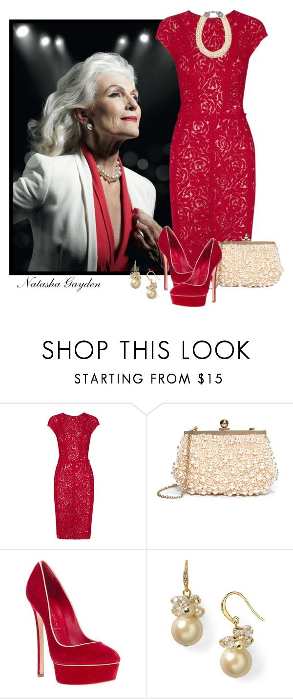 """Aging Gracefully!"" by natasha-gayden ❤ liked on Polyvore featuring Nina Ricci, GUESS by Marciano, Casadei and Carolee"