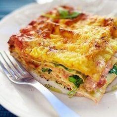 Lasagne med rökt lax och spenat | Smoked salmon and spinach lasagna