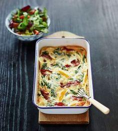 En allround-rätt som passar både till frukost, lunch eller middag. Servera med en fräsch sallad.