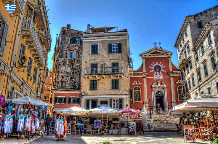 Corfu Town, Corfu, Greece. Lovely old town- especially when lit up at night. Happy times wandering around with Rand xx