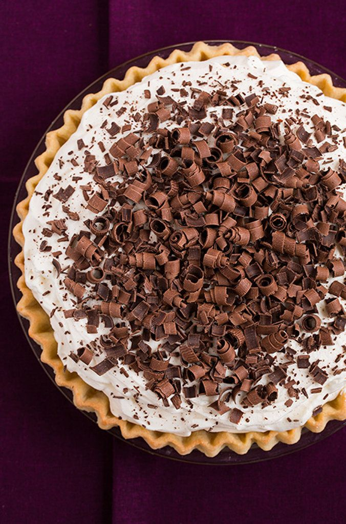 French Silk Pie — did you know this rich, chocolatey custard pie is actually American, not French? via @cookingclassy